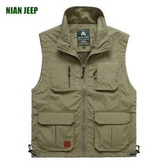 Promotion price Genuine NianJeep summer casual vest breathable net men's mesh multi-pocket large size of the Jeep vest just only $22.56 with free shipping worldwide  #jacketscoatsformen Plese click on picture to see our special price for you