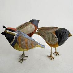 Papier mache birds.