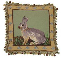 "PW814 Sitting Rabbit Pillow 16""x16"""