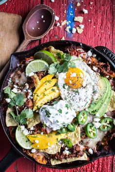 Carnitas Chilaquiles with Whipped Jalapeño Cream | HBH