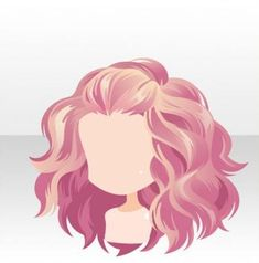 nu attrade anime hair curly volume light dark pink highlights wavy pinned back clip so pretty long medium Anime Curly Hair, Manga Hair, Wavy Hair, Curly Hair Drawing, Trendy Hairstyles, Girl Hairstyles, Anime Hairstyles, Character Inspiration, Character Design