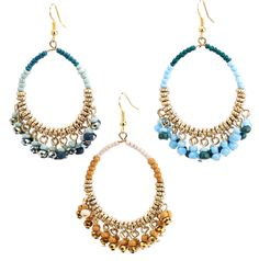 Beaded Hoop Drop Earrings - Girl Intuitive
