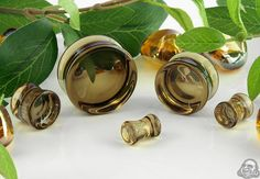 Concave Glass Plugs