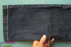 Elle transforme ses vieux jeans en quelque chose de beau et simple! Fallait…