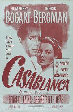 Casablanca #vintage #movie #poster