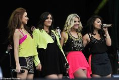 And they're off! The Saturdays are the epitome of awesome foursome as they take to the stage at Newmarket Racecourse | Mail Online