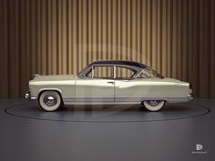 1951 Kaiser Hardtop Concept by Gordon Tercey Us Cars, 3d Modeling, Dan, Concept, Digital, Carport Garage, Cars, Scale Model, Motorbikes