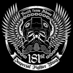 181st Imperial Tie Fighter Wing Biker - Rebel After Retirement - Neatorama