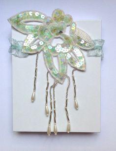 "Miss Scarlet's Garters: ""Boudoir & Burlesque' Collection--Gatsby Green Wedding, Prom or Boudoir Garter  #vintage #Gatsby #beading #pearls #wedding #bridal #weddinggarter #burlesque #lingerie #sexy #seafoam #honeymoon #prom #promgarter #MissScarletsGarters"