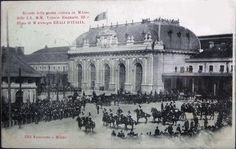 King of Italy and Old Central Station King Of Italy, Old Images, Central Station, Yesterday And Today, Vintage Photos, Paris Skyline, Taj Mahal, Louvre, Nyc