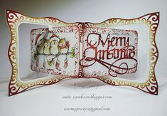 Anita Izendoorn using the Pop it Ups Gift Card Accordion and Flourish Gift Frame dies by Karen Burniston for Elizabeth Craft Designs. - Anita 's Warme Groetjes: A Way With Words Flip Cards, Pop Up Cards, Beautiful Christmas Cards, Christmas Crafts, Christmas Ideas, Elizabeth Craft Designs, Scrapbook Cards, Scrapbooking, Merry And Bright