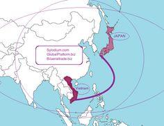 Vietnam Japan The global platform for bilateral trade,  import export business, www.sylodium.com