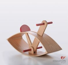 Wooden Rocking Horse  C02  eco friendly toy by emanuelrufoToys, €100.00
