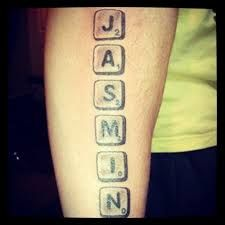 scrabble name tattoos - Google Search