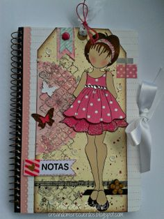 Altered Notebook... Prima Doll Stamp