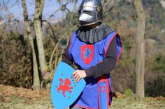 Pack Blue Medieval. Disfraz niño, caballero Medieval color azul.