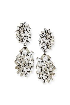 """Dannijo """"Mayfield"""" Earrings.Oxidized silver plated earrings. Made with Swarovski Crystal elements.Handmade in New York    Measures: Approx. 2.9""""L x 1""""W   Mayfield Earrings by DanniJo. Accessories - Jewelry - Earrings - Statement Toronto, Canada"""