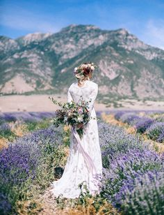 Bridals in a Lavender Field