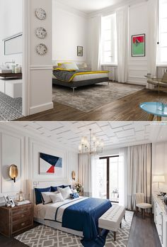 Home Designing — (via 20 Light, White Bedrooms for Rest and...