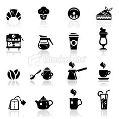 Icons set Cafe Royalty Free Stock Vector Art Illustration