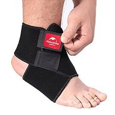 Ezyoutdoor Unisex Black Breathable Neoprene Ankle Support Elastic Ankle Foot Compression Wrap Strap Support Bandage Brace Protective Guard for Outdoor Sports Gym Volleyball Basketball L *** Visit the image link more details.