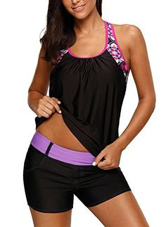 New Dearlove Women's Blouson Floral T-Back Push Up Tankini Top S-XXXL online. Find the perfect Cupshe Swimsuit from top store. Sku CXGC41504BDFL76037