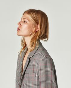 Image 4 of BUTTONED CHECKED BLAZER from Zara
