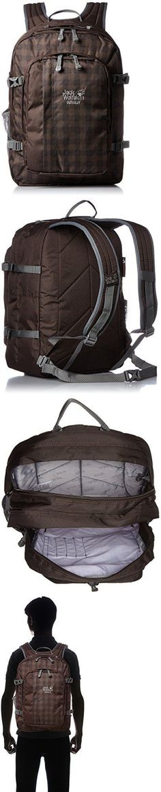 Other Camping Hiking Backpacks 36109: Jack Wolfskin Berkeley Rucksack, Mocca Classic Check, 30 L -> BUY IT NOW ONLY: $59.8 on eBay!