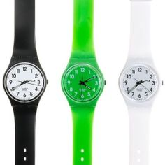 Swatch watches...and you couldn't forget the swatch gaurd ;)