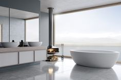 """An ancient Welsh name meaning """"Jewel of the sea"""". The culmination of luxury and opulence. The cordelia bathtub is lavish, grand and the pinnacle of luxury bathing for your home. Jewel Of The Seas, Luxury Bath, Kitchen And Bath, Plumbing, Beach House, Palm, New Homes, House Design, Bathtubs"""