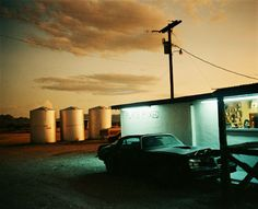 Wim Wenders, Flammable, Terlingua, Texas, 1983, C-print, 49 x 55 1/2 inches
