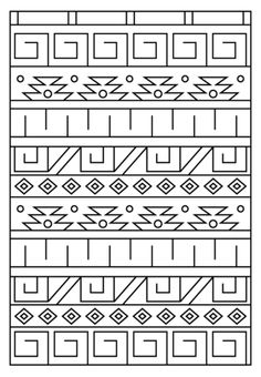 Inca Pattern Coloring page