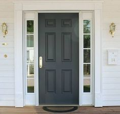 Painted Front Door With Inch Entry Door 42 X 80 Wide Doors Todays Entry . Red Front Door And Bold House Exterior Traba Homes. 50 Best And Popular Front Door Paint Colors For 2019 . Painted Exterior Doors, Exterior Doors With Sidelights, Painted Front Doors, Front Door Design, Front Door Colors, Brick House Designs, Fiberglass Entry Doors, House Front Door, Colors