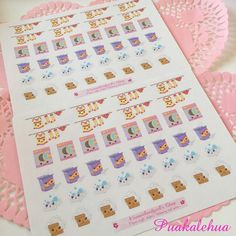 Kawaii Laundry Time stickers by kawaiislandgurl72 on Etsy