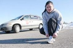 Amazing Candace Sutherland who ran across Canada to raise money & awareness about poverty
