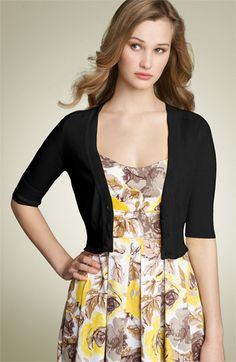 I love cropped cardigan's - the dress is cute too but probably wouldn't wear it very much.  Nordstrom