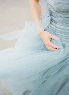 Dusky Blue Dress tulle is so romantic: VDay inspiration Dresses Uk, Blue Dresses, Flowy Dresses, Bleu Pale, Himmelblau, French Blue, Color Azul, Something Blue, Dusty Blue