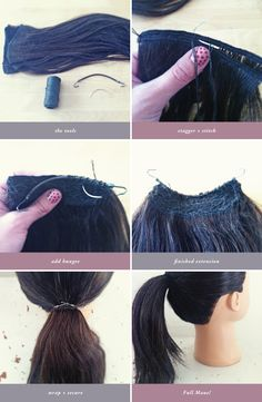 Create a fuller looking pony-tail with this Ponytail Extension DIY. http://sunniebrook.com/diy-ponytail-extension/