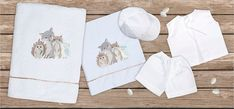 oil cloth set 6 pieces, ladopano,ladopana, λαδόπανα, set underwear baptism vaptism vaptisi Baby Shower Gifts, Baby Gifts, Baptism Favors, Unique Christmas Gifts, Christening Gifts, Etsy Business, New Year Gifts, Cotton Towels, Home Gifts