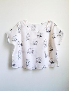 bear print blouse by leahgoren on etsy