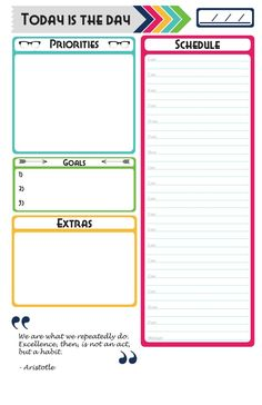 Free Today Is The Day Planner Printable