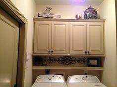 DIY shelf above washer/dryer!!!