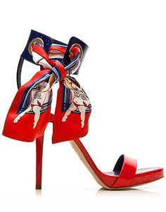 Dsquared2  I LOVE these shoes.  I especially love the ankle strap and the scarf'esque ankle sash!!!