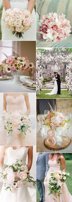 Pretty blush wedding flowers on GS Inspiration - Glitzy Secrets