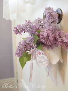 May Day Basket---my favorite---with lilacs
