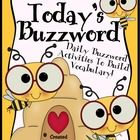"""Today's Buzzword"": A Complete Vocabulary Unit For The Entire School Year. THIS BEST SELLER IS NOW 206 PAGES!  Expand your students' vocabulary wit..."