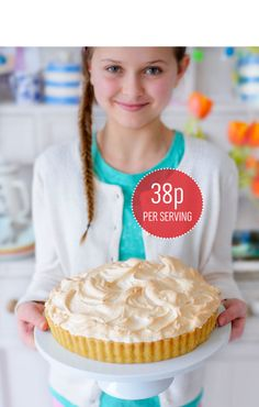 Lemon meringue pie. Best at room temperature or just lightly chilled