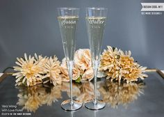 @lynnagatha5810 Wedgwood Vera Wang With Love Champagne Glasses   by LetsTieTheKnot