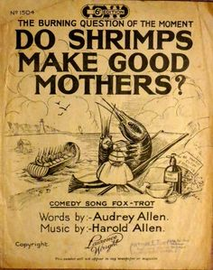 Vintage sheet music with a seaside theme.