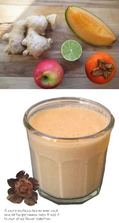It's a Khorma. It's an Aloo. It's: Khormaloo! Or: How to Eat a Persimmon | a persimmon smoothie | By Fig & Quince (Persian food blog)